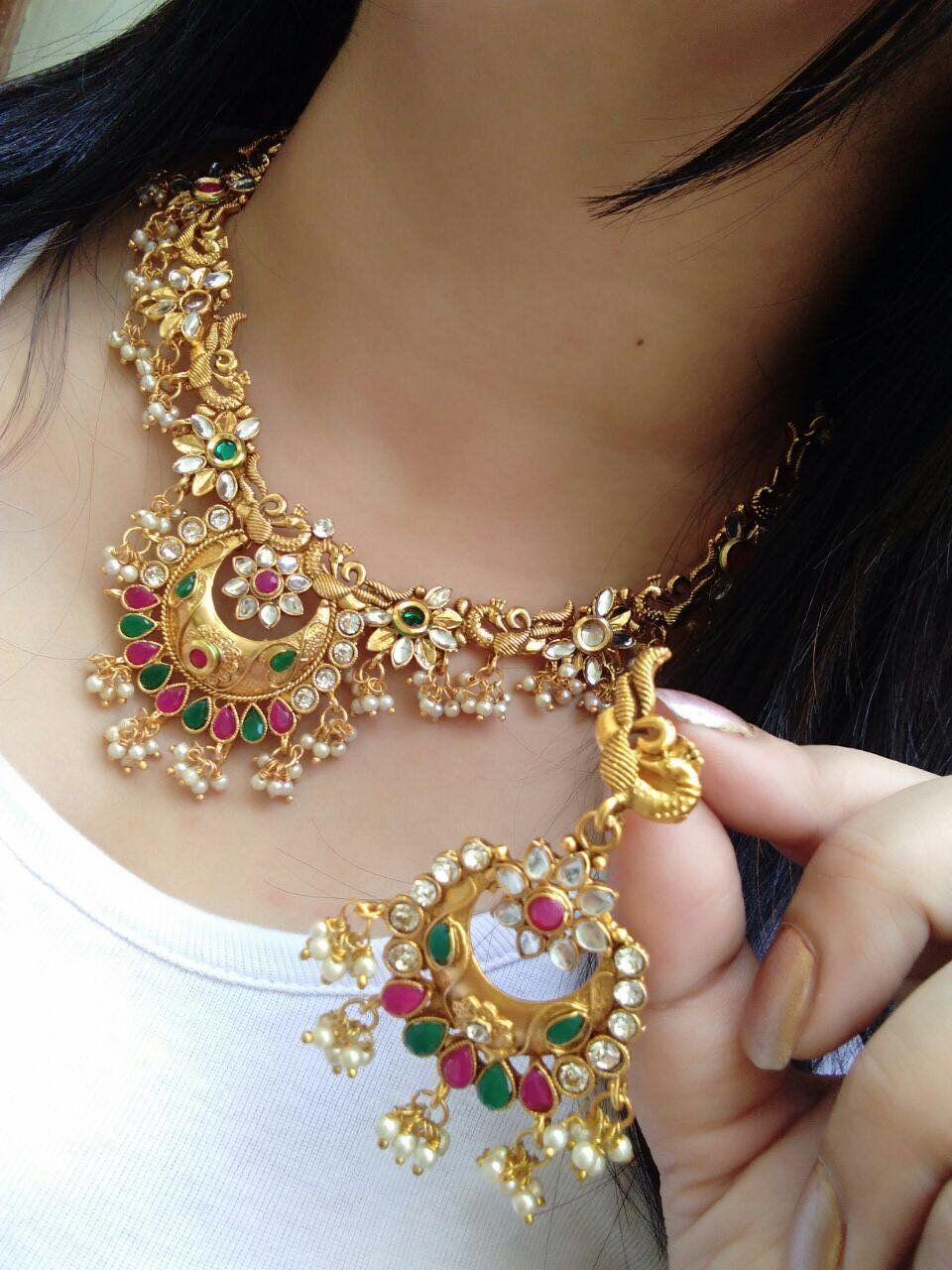 c35897ec65018 Jewelry Sets 50692: Indian Women Bridal Necklace Set Gold Plated ...