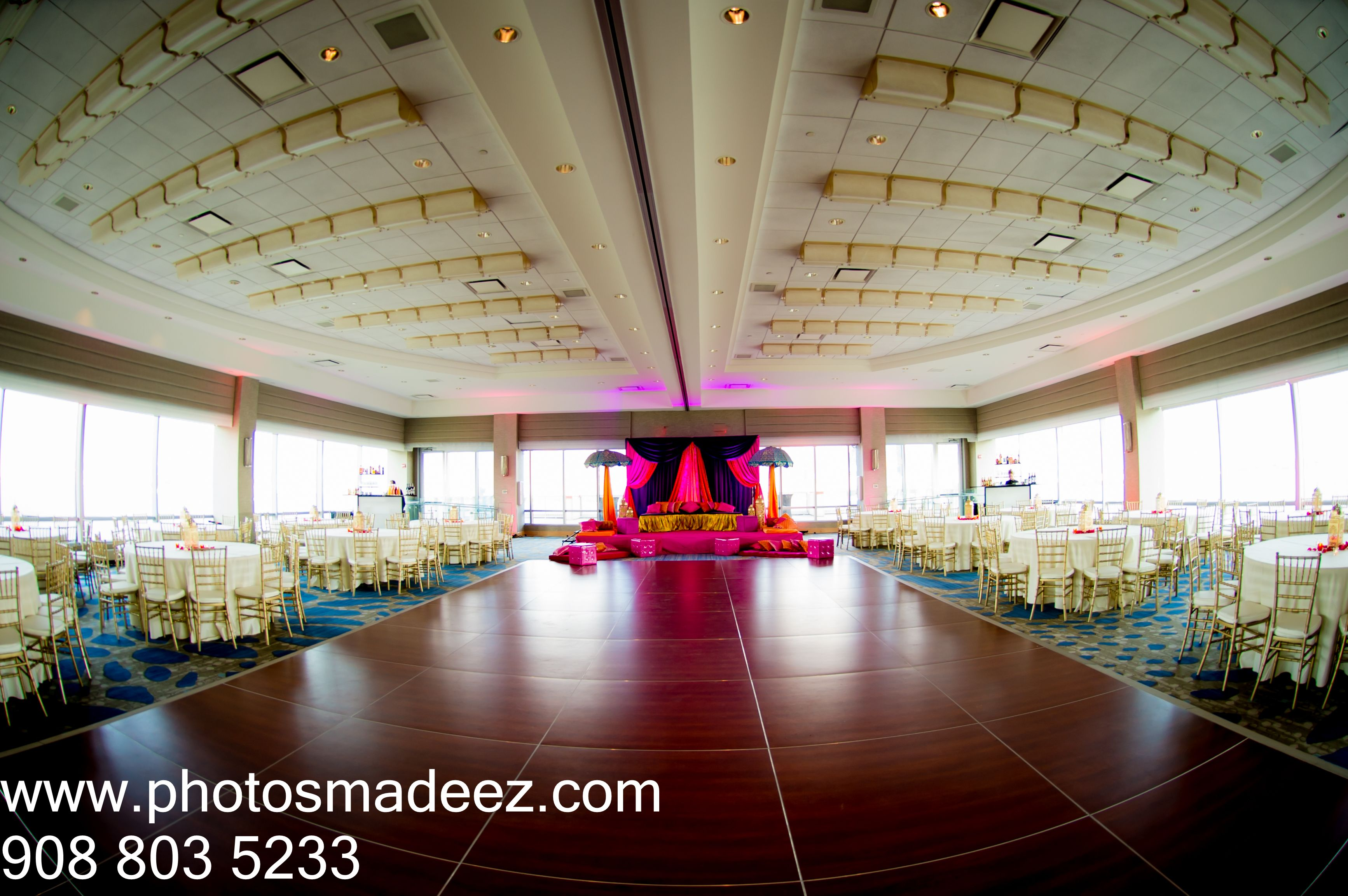 Sangeet Decor by Design House Decor for Punjabi wedding at The Hyatt Jersey CIty - Indian Wedding. Hindu Wedding Best Wedding Photographer PhotosMadeEz, Award winning photographer Mou Mukherjee. #subinandmehak