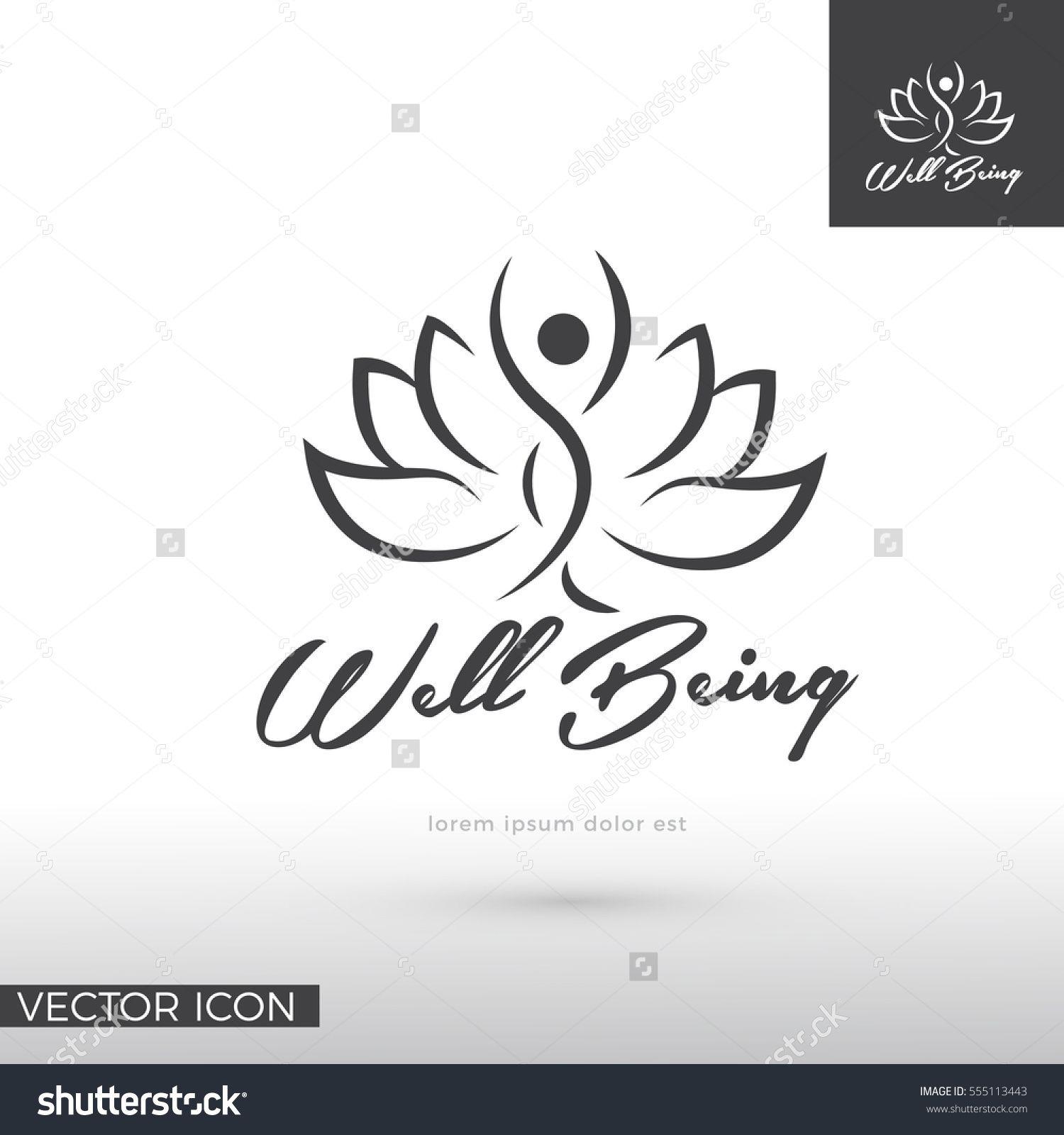 woman silhouette in lotus flower logo icon