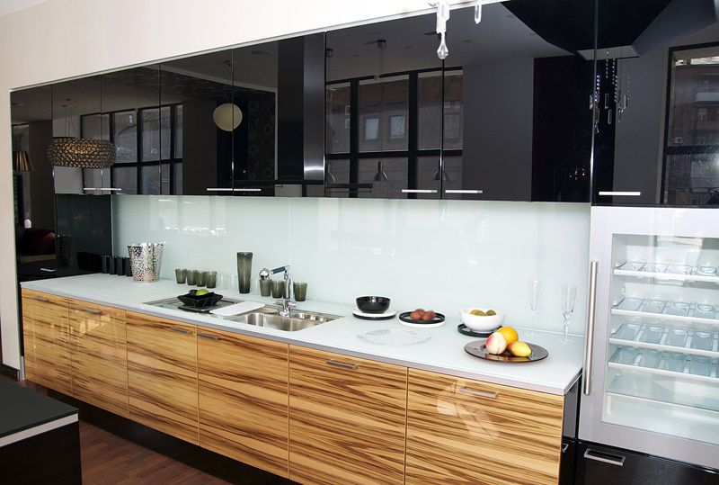 Attractive Element Designs  Back Painted Glass Cabinet Fronts, Countertop, And  Backsplash
