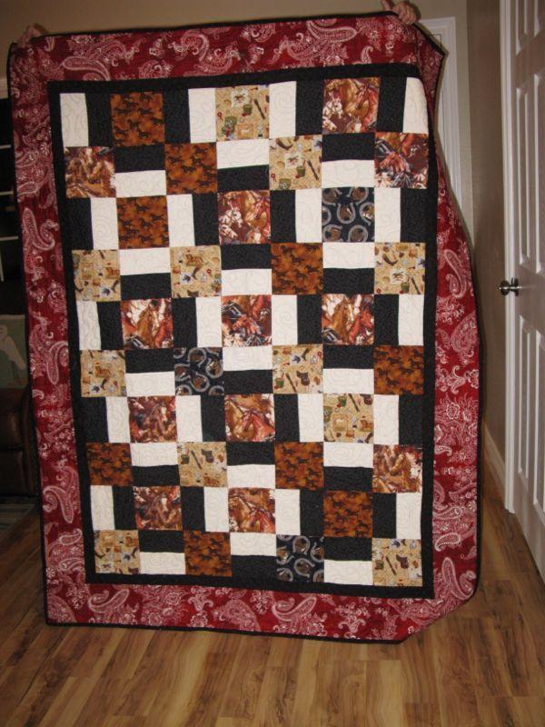 September 2012 Quilt Night September Horse Quilt And Lattice Quilt