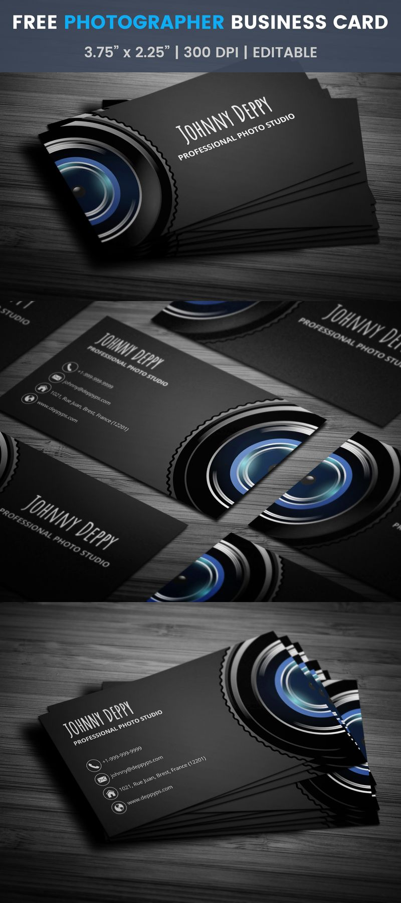 Unique side cam photography business card template click free unique side cam photography business card template click friedricerecipe Images