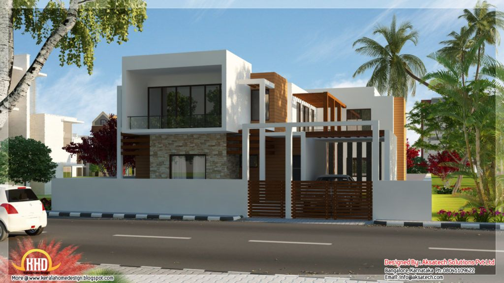 Fetching beautiful house designs india beautiful contemporary home designs model house Home decor wallpaper bangalore
