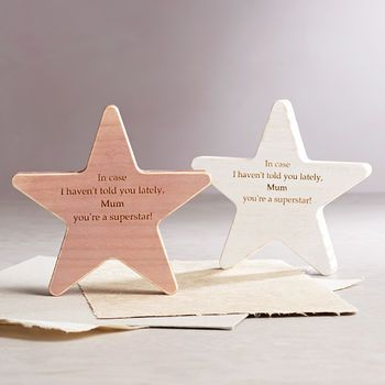 Personalised Mother's Day Wooden Star Keepsake