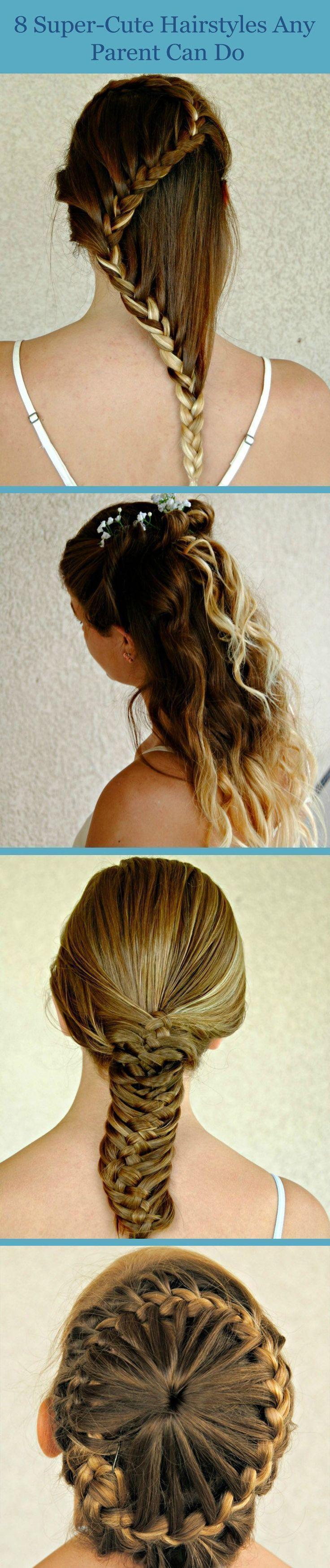 8 SuperCute-Frisuren, die sich jedes Elternteil selbst machen kann