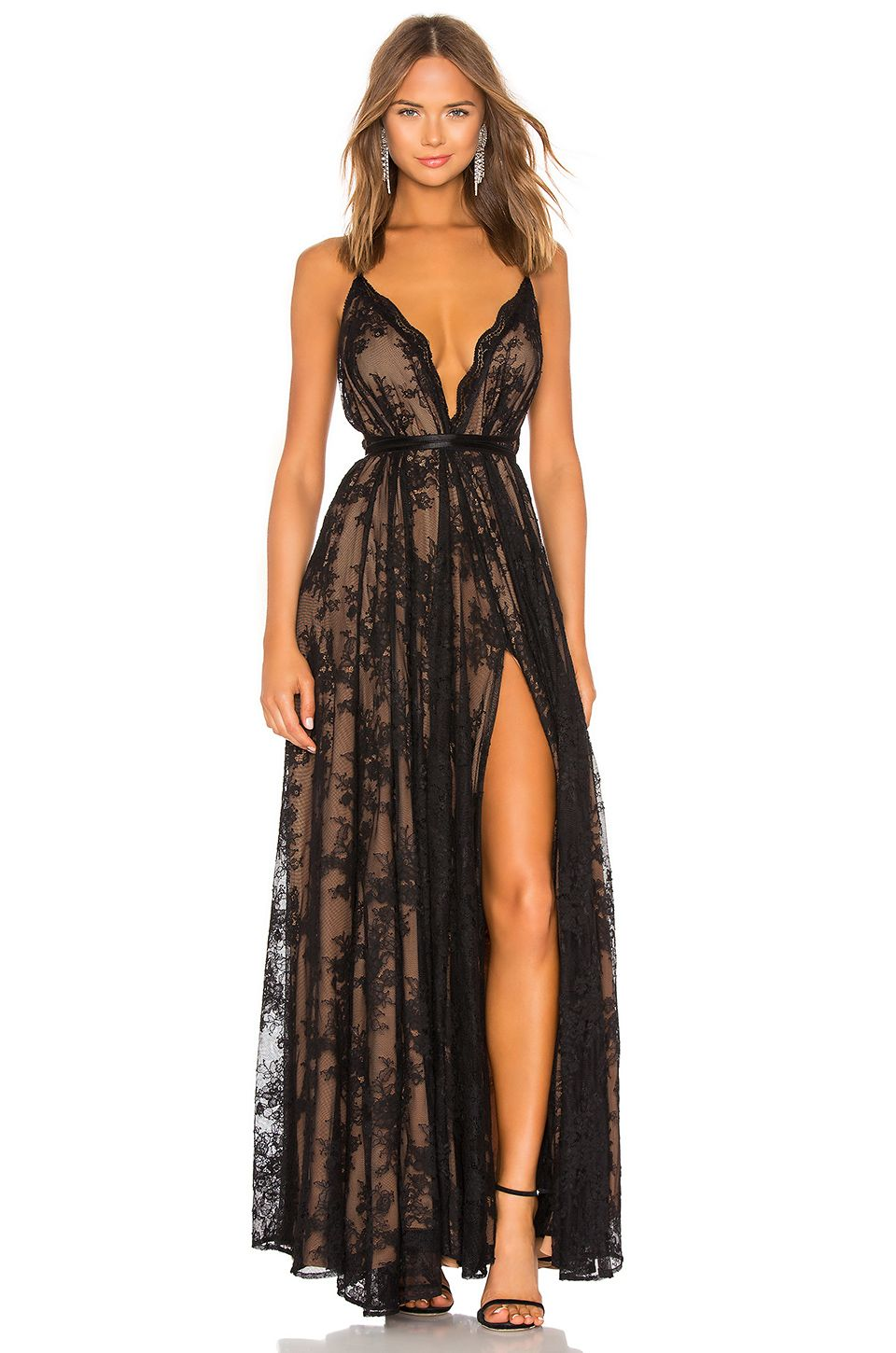 c18ecde3471a2 Michael Costello Paris Gown in Black