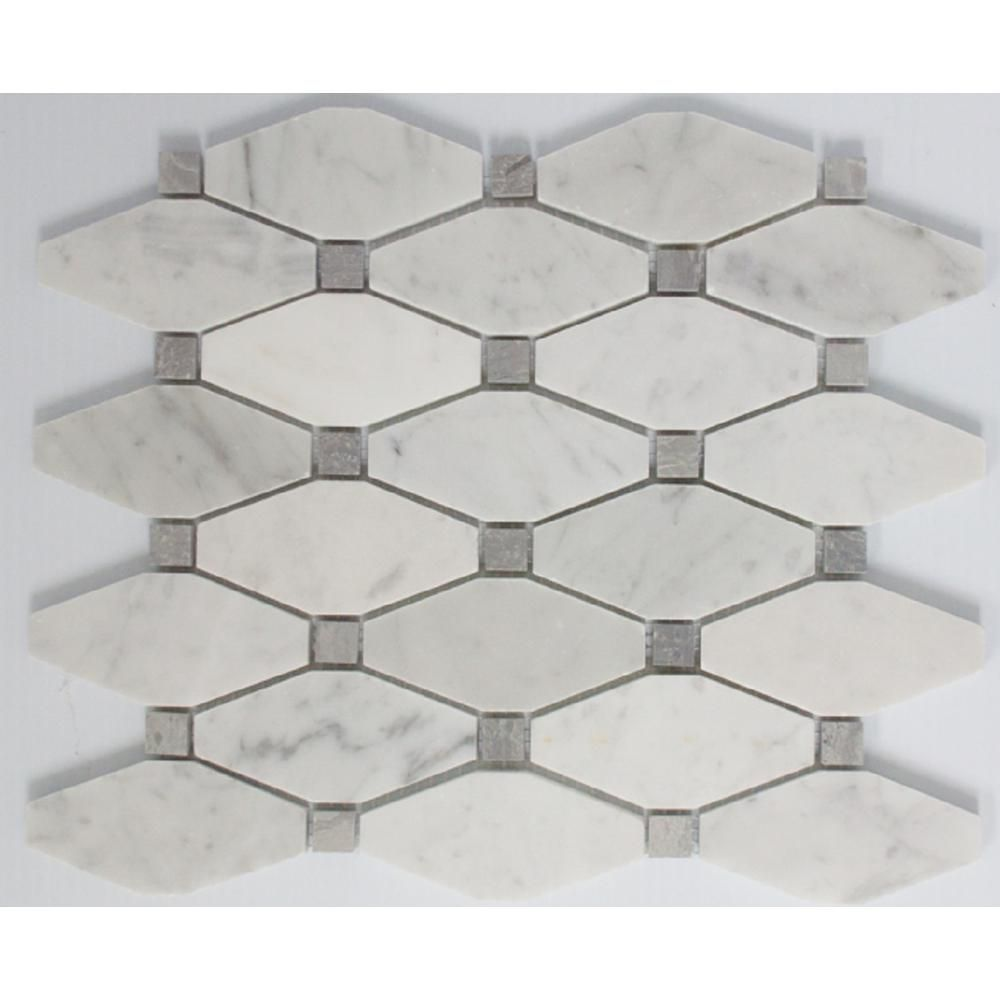 Ltl Home Products 11 In X 12 In X 10 Mm Tile Esque Carrara Marble White Octagon In Offset Pattern Mesh Mo Octagon Tile Backsplash Carrara Marble Octagon Tile