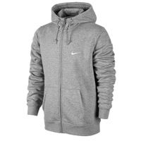 cf819699c7cf Nike Club Swoosh Full Zip Hoodie - Men s - Grey   White