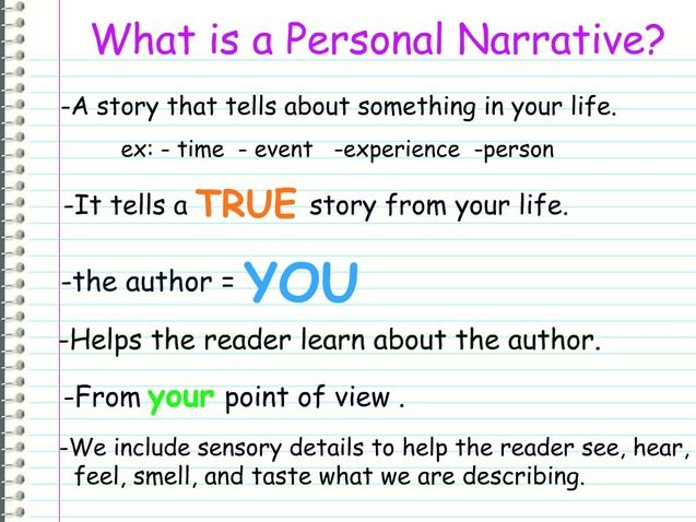 What I A Personal Narrative Essay Writing Skill Graphic Organizer Purpose Of