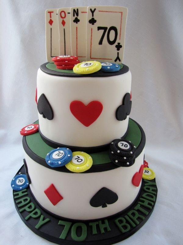 Poker Lovers Birthday Cake Celebration Cakes Pinterest Cake