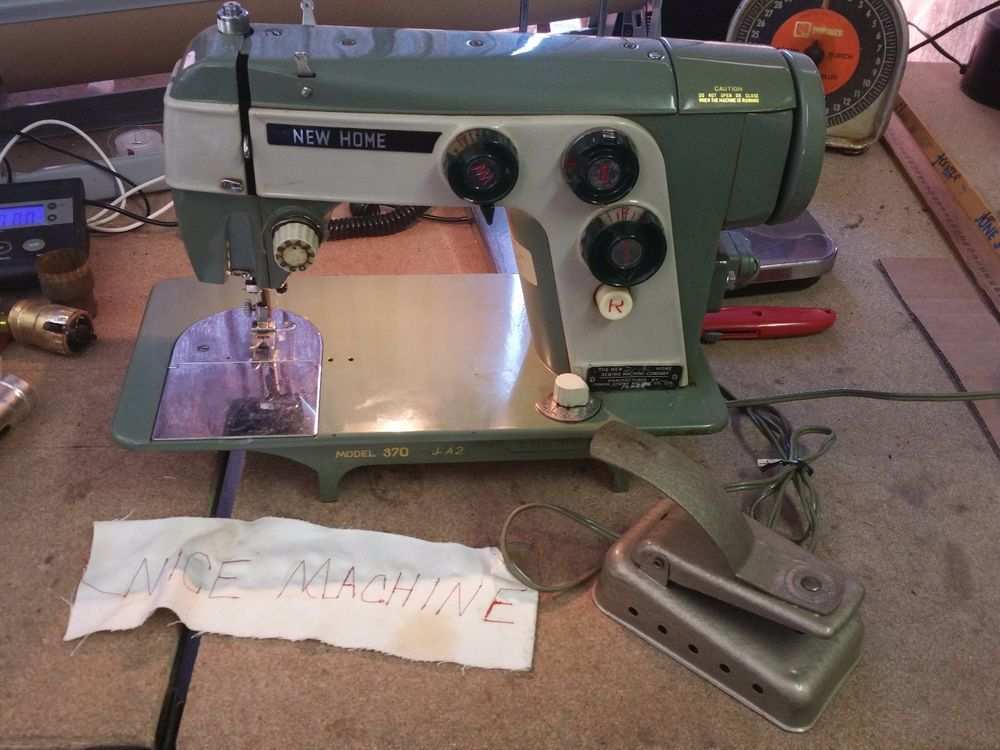 New Home Janome 40 Heavy Duty Green Sewing Machine STEEL WORKING New New Home Sewing Machine Foot Pedal