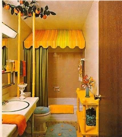 1970 Bathroom Yahoo Image Search Results Orange