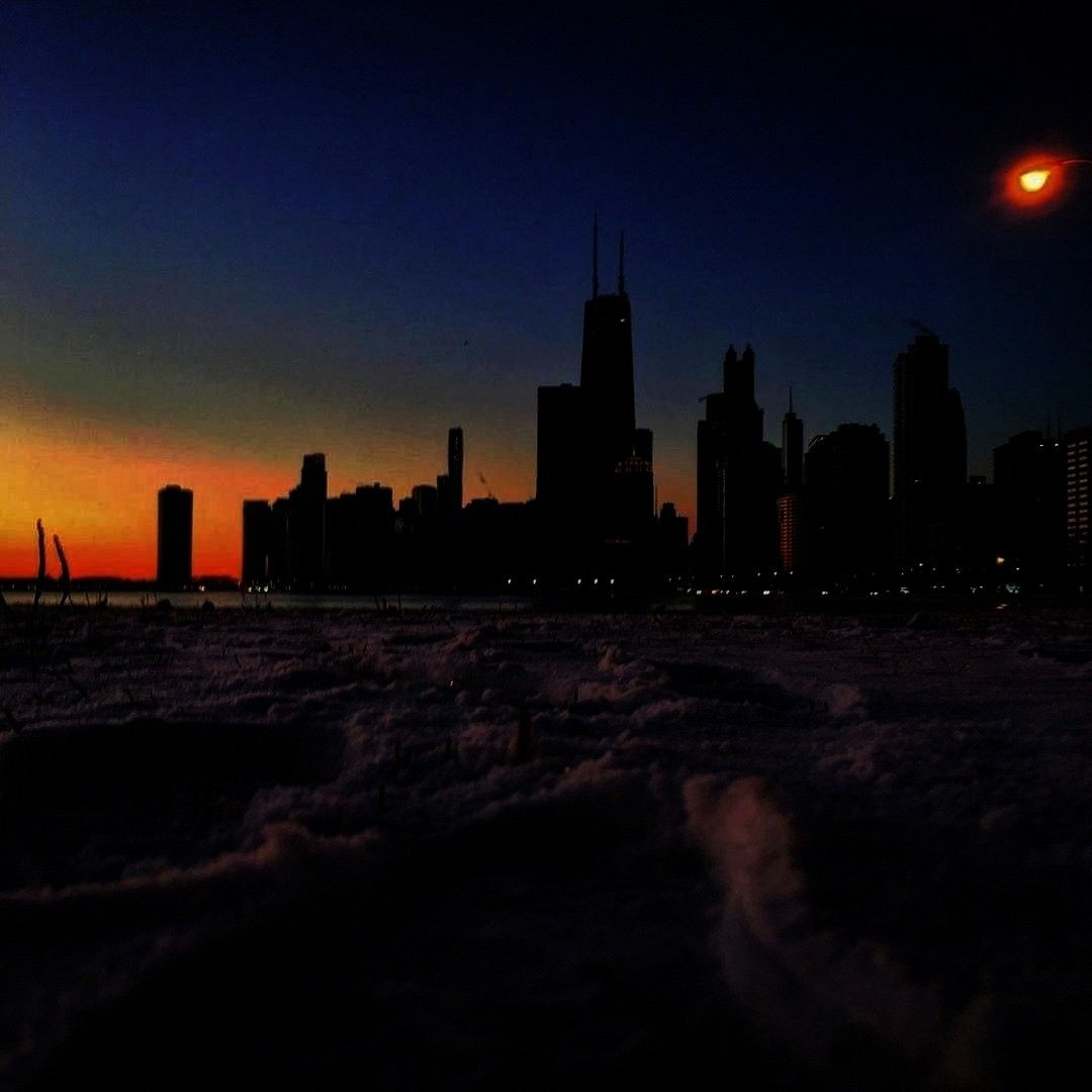 - I took my first steps into the new year at North Beach, the apex of in CHICAGO. I had high hopes