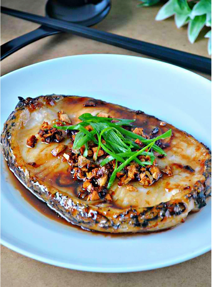 Cod Steak with Toasted Garlic and Oyster Sauce | 1mrecipes