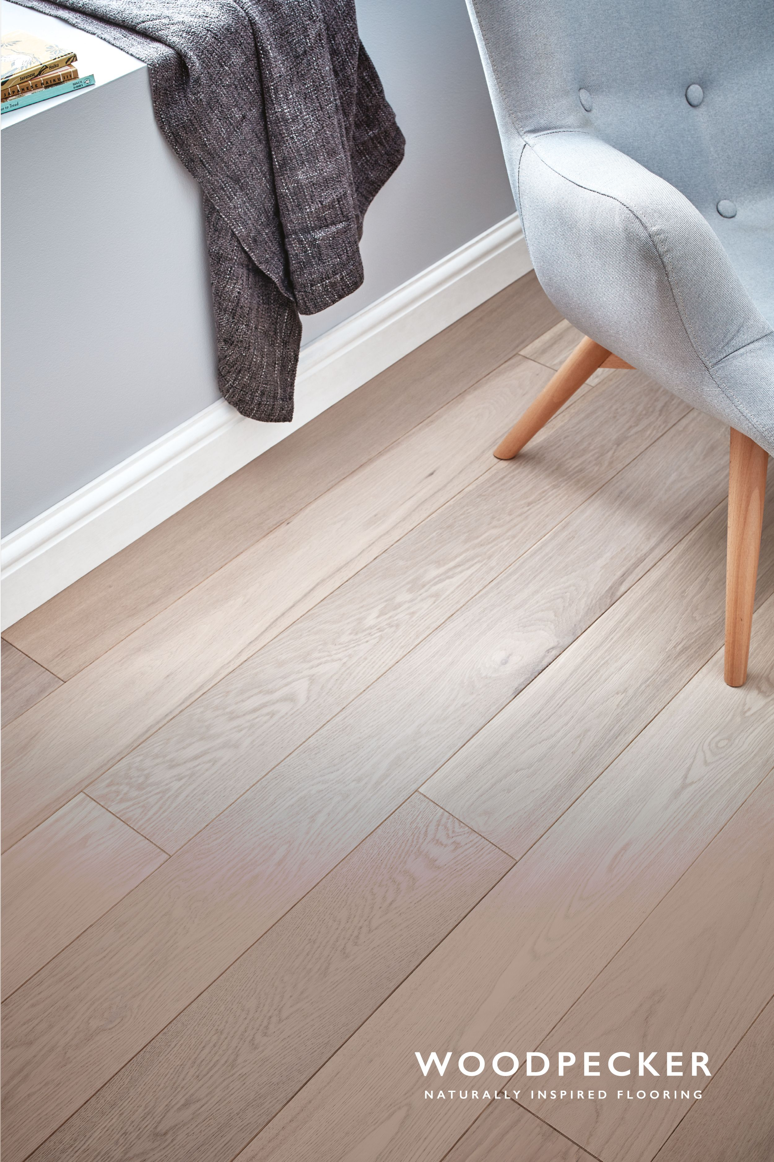 Capture Relaxed Scandinavian Style With This Light And Contemporary White Oak Floor Get A Free Sample Bedroom Flooring Oak Floor Living Room House Flooring