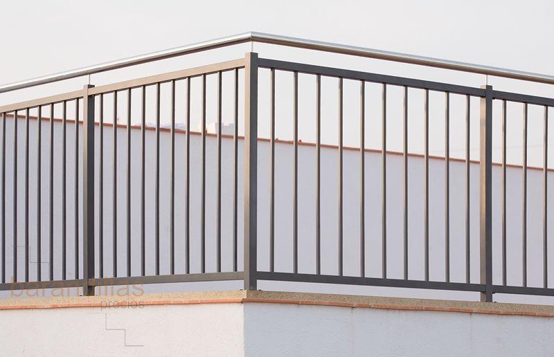 Barandillas exterior hierro h1 03 180x180 muros vallas pinterest hierro barandas y - Vallas de acero inoxidable ...