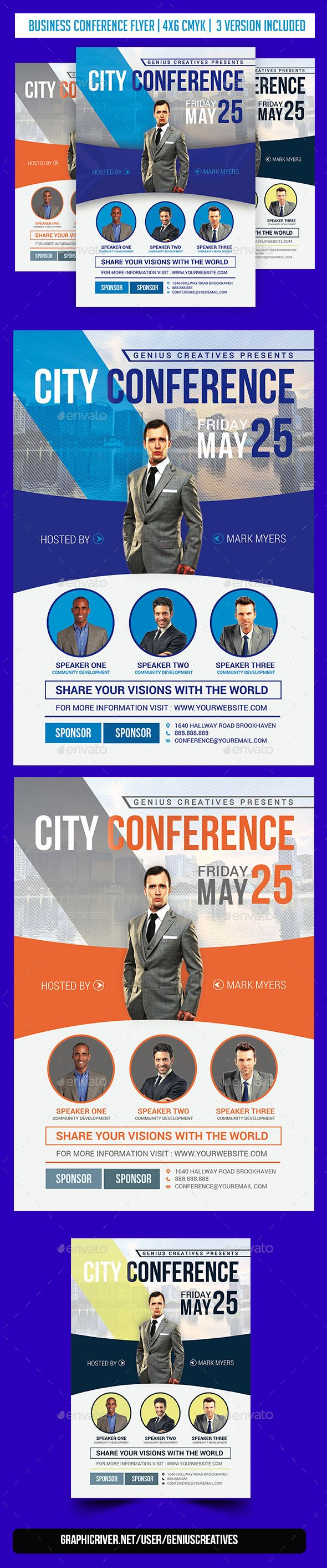 City Conference  Flyer Template Business Flyers And Business