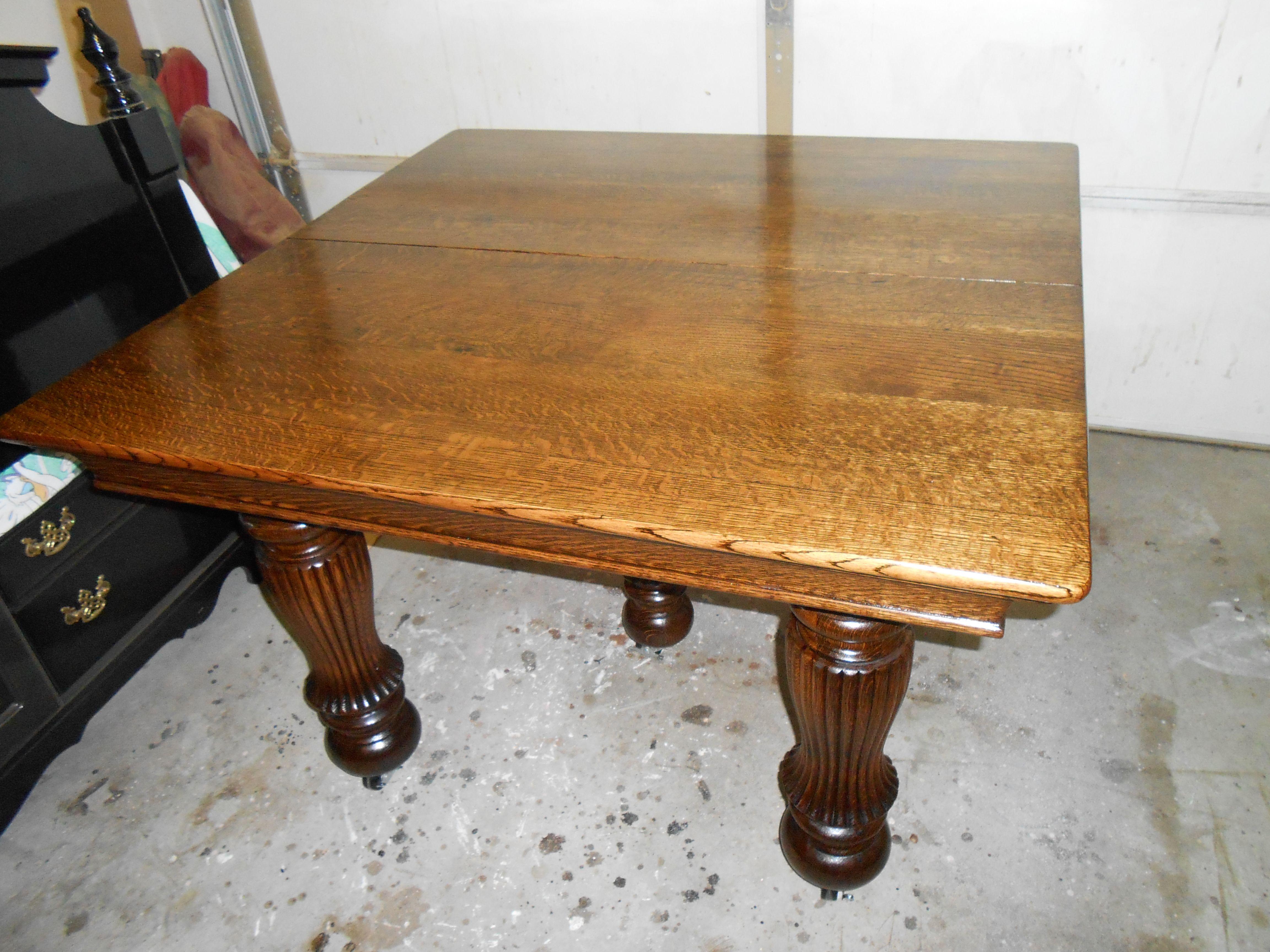 Ana White Antique Quartersawn White Oak Dining Table Diy
