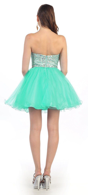 2016 Homecoming Strapless Sassy Formal Prom Short Mini Dress ...