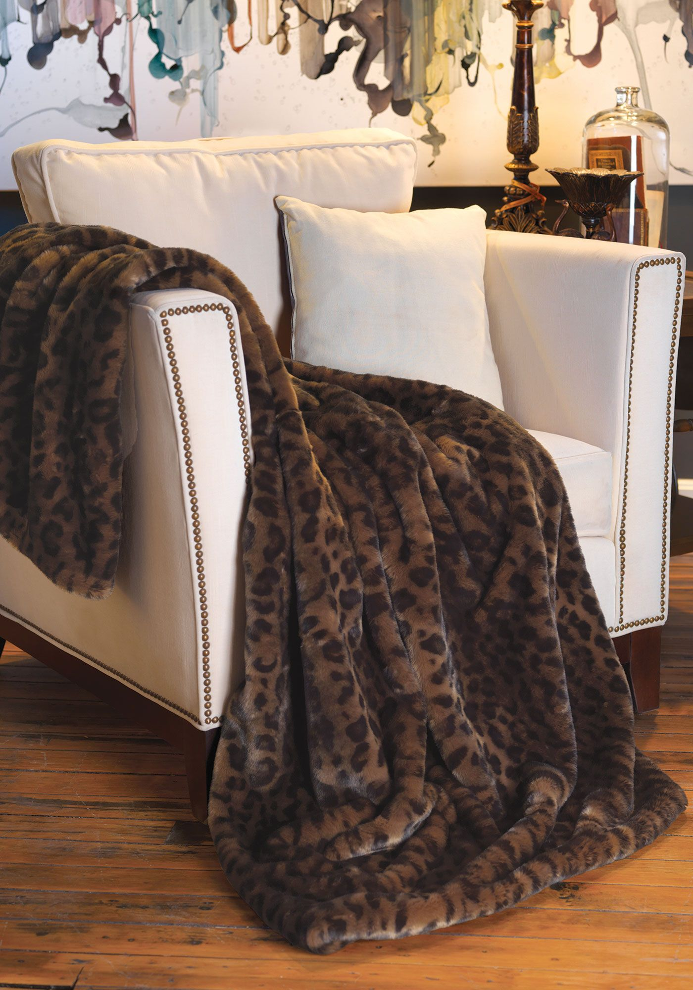 panther couture collection faux fur throws