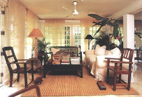 Neo Filipino Living Room Open Concept Living Room Open Concept
