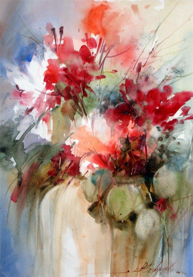Fabio Cembranelli C Regenbogen Floral Painting Flower Painting