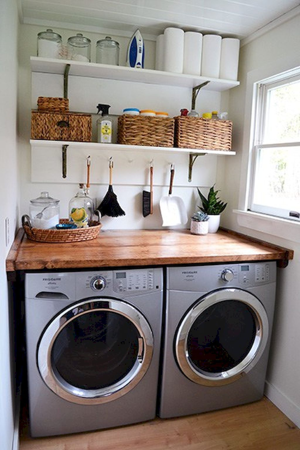 Corner Laundry Shelf 49 Minimalist Laundry Room Ideas Minimalist Decor