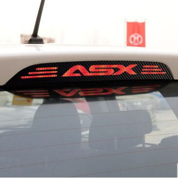 Hot Sale carbon fiber brake light decoration cover stickers case for MITSUBISHI asx 2011 2012 2013 2014 2015 car accessories
