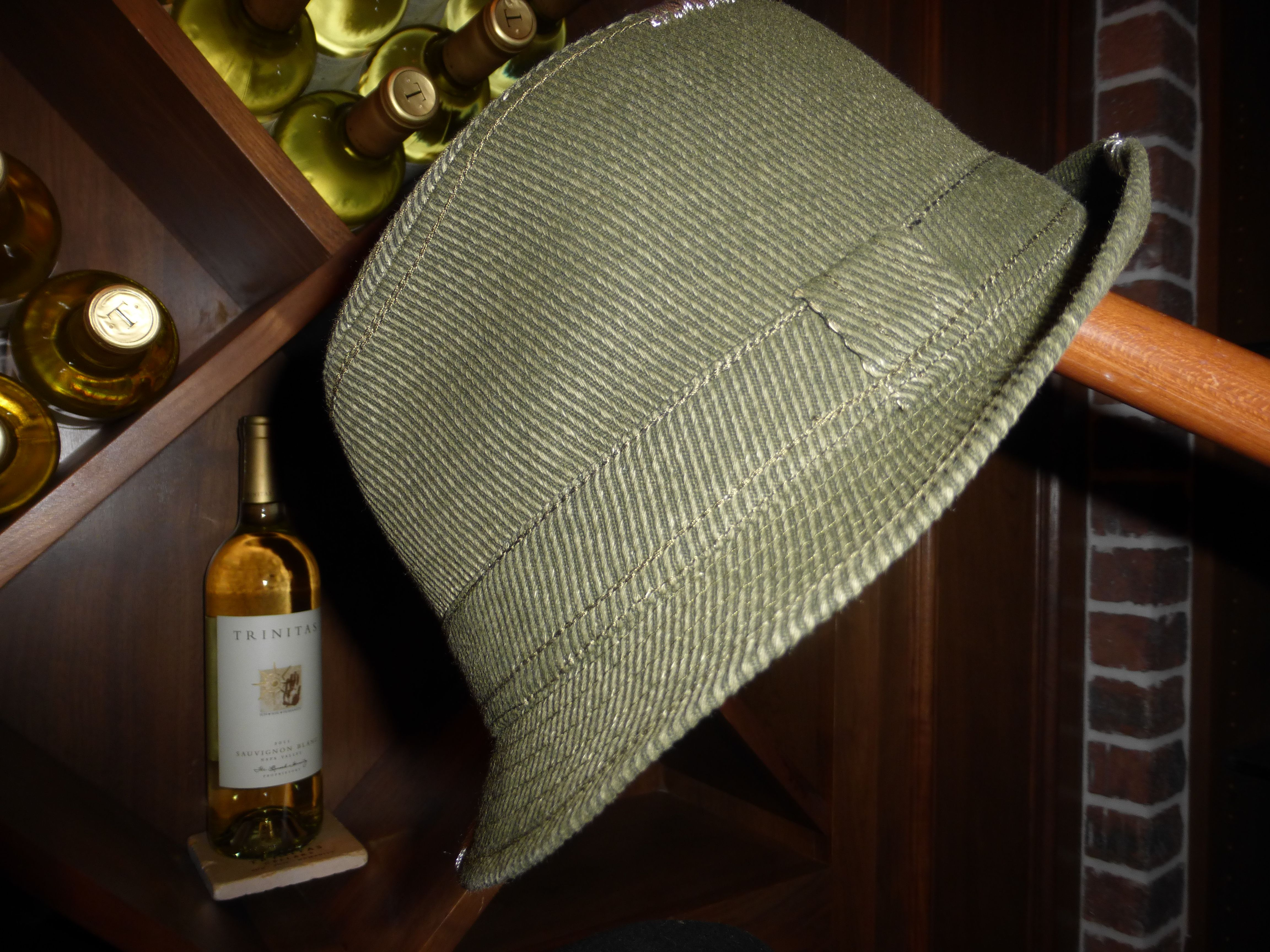 Love these hats in the tasting room at Trinitas Cellars! One stop shopping!