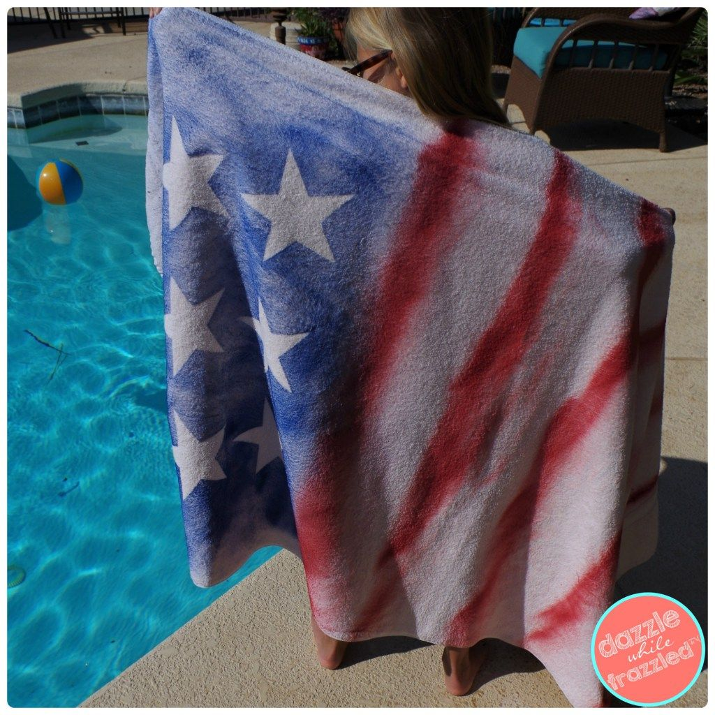 How To Make Fun Graffiti Beach Towels With The Kids Outdoor