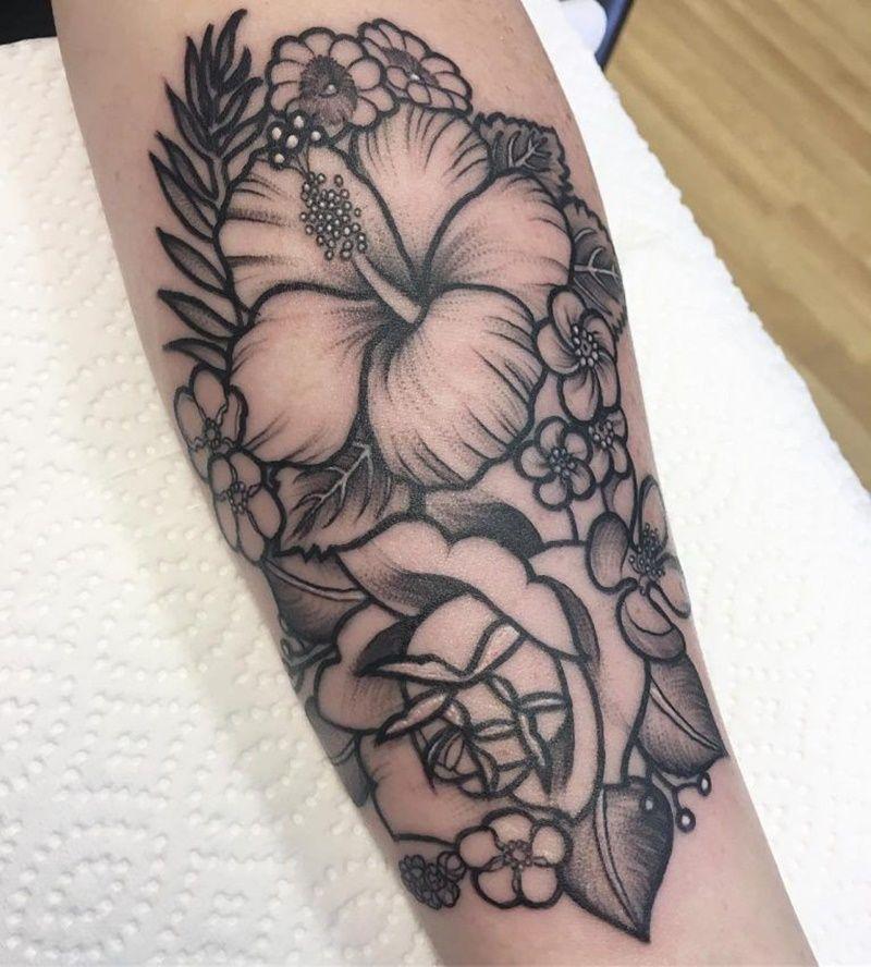 Best Hibiscus Flower Tattoos Flower Tattoos Hibiscus Flower Tattoos Tropical Flower Tattoos