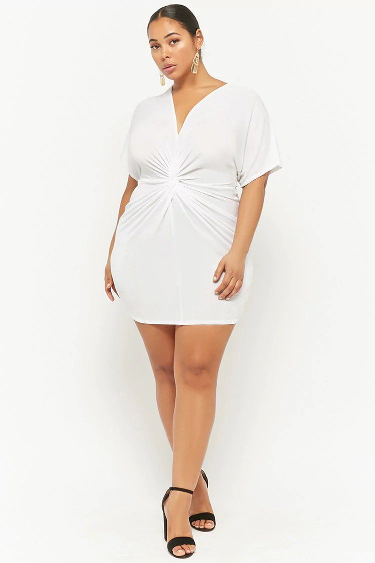 03c7f8f7f77 Product Name:Plus Size Plunging Tulip Dress, Category:CLEARANCE_ZERO,  Price:25
