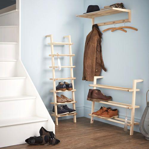 Wooden Ladder Shoe Rack - Wide - Shoe Racks | Shoe Storage Shelves | Boot  Racks