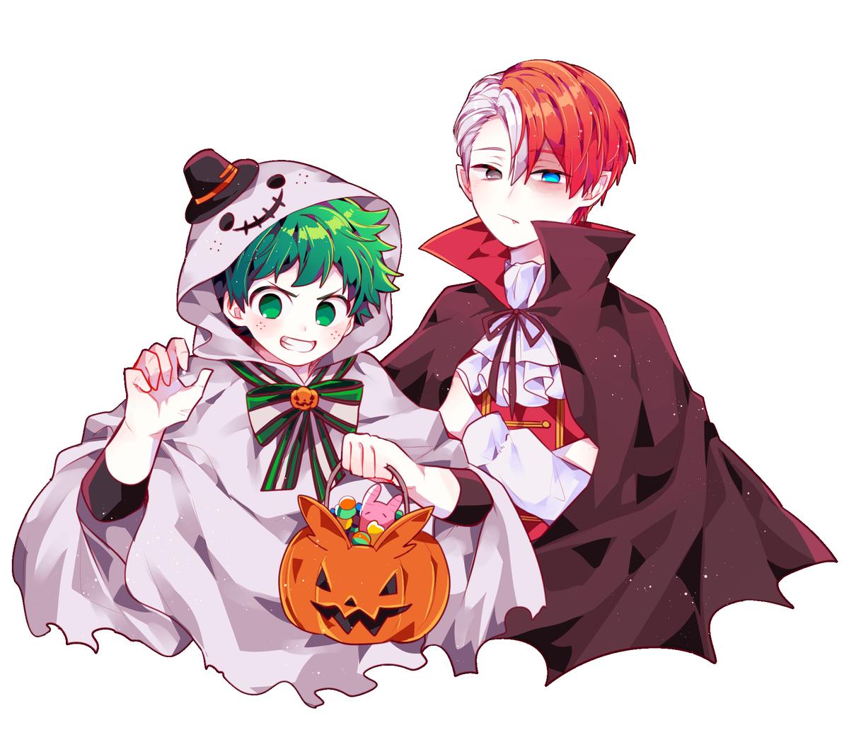 Todoroki Shouto Midoriya Izuku My Hero Academia Episodes Anime Halloween Hero Wallpaper