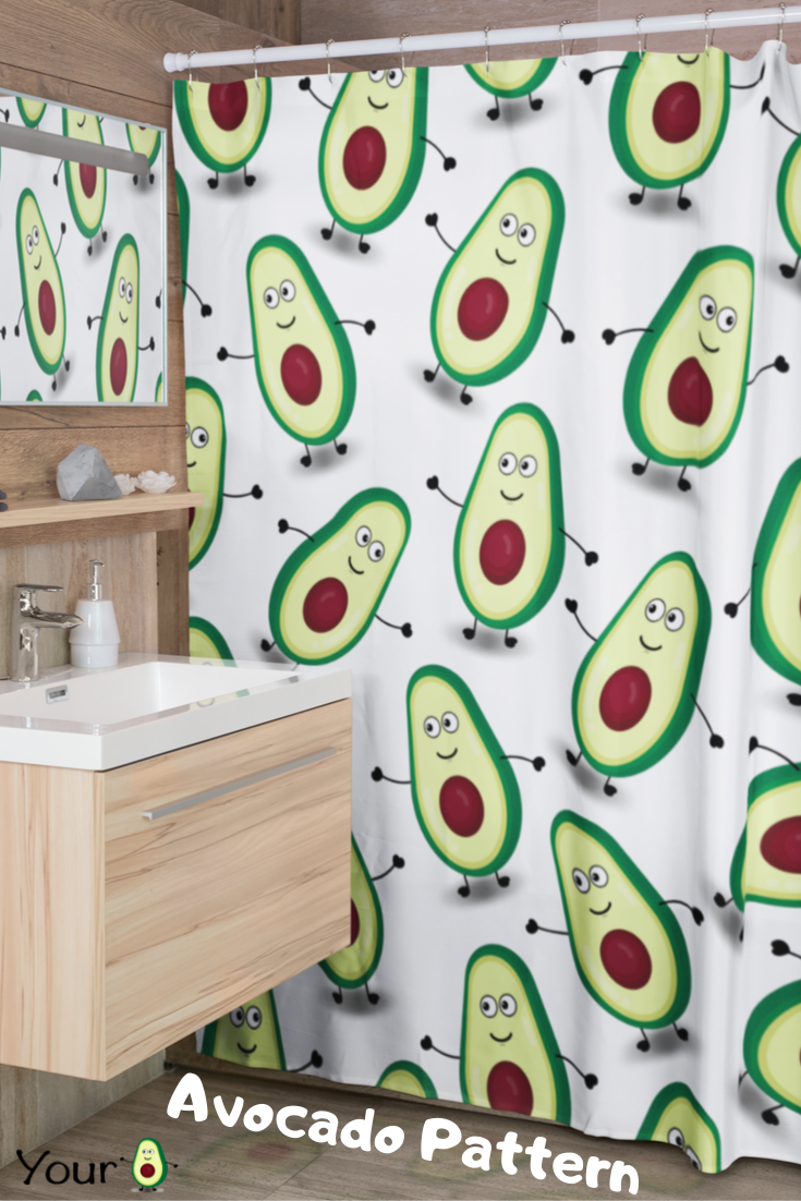 Sweet Cool And Funny Avocado Unique Illustration Print On A
