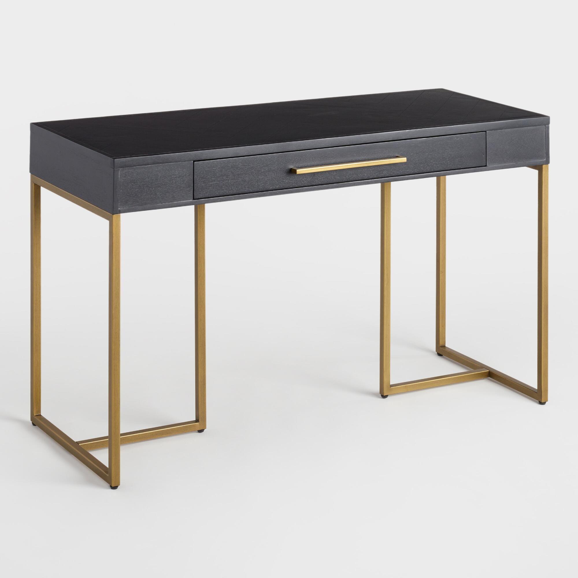 Herringbone Wood Wayde Desk By World Market... By World