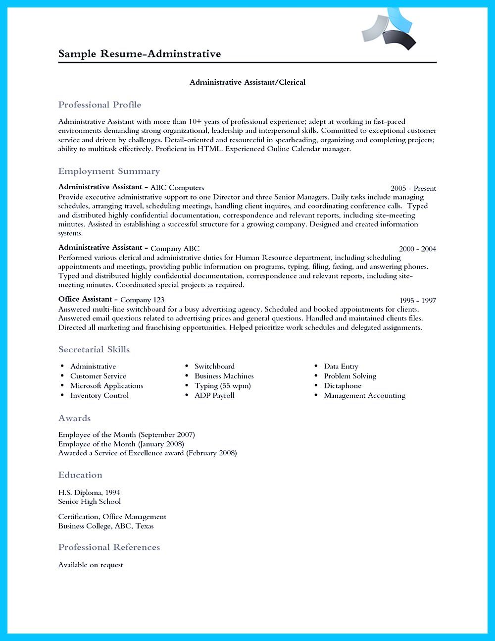 Sr Administrative Assistant Resume In Writing Entry Level Administrative Assistant Resume You Need