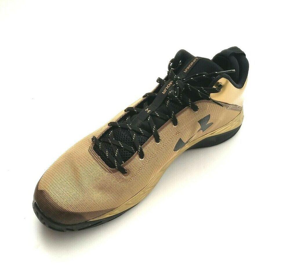 bd85b602217c Under Armour UA Men s 1279897-778 Fire Shot Low Basketball Shoes Gold Size  17