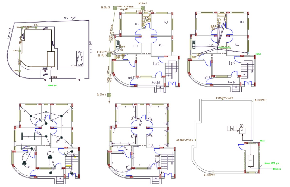 3 Bedroom House Electrical And Plumbing Layout Plan House Layout Plans Layout How To Plan