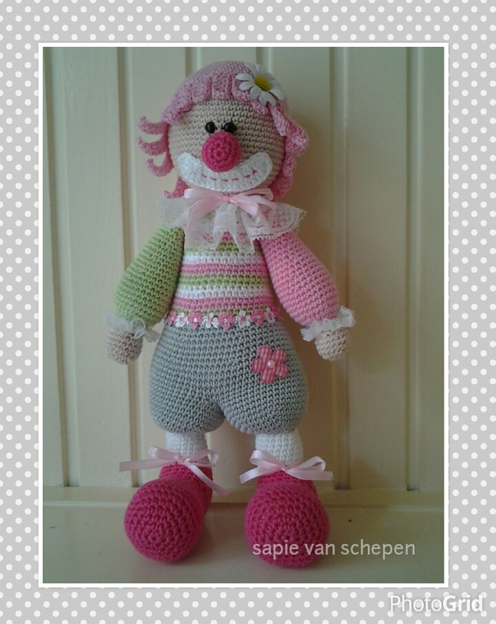 clown,patroon van Lilleliis | Babypoppen | Pinterest | Clowns und ...