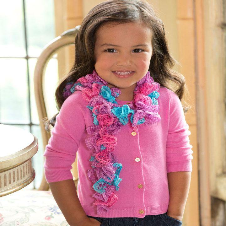 Girlie Ruffle Scarf   Knit & Crochet: Scarfs, Shawls, Cowls ...