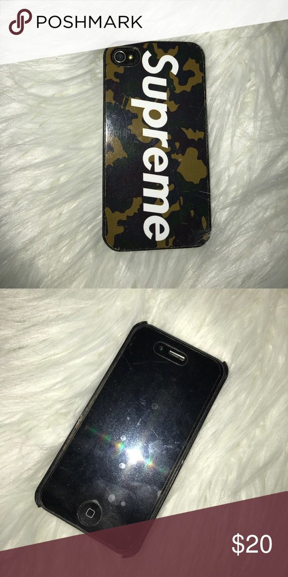 huge selection of 1d9d4 28953 Supreme iPhone 4 case Supreme camo iPhone 4 case Supreme Accessories ...