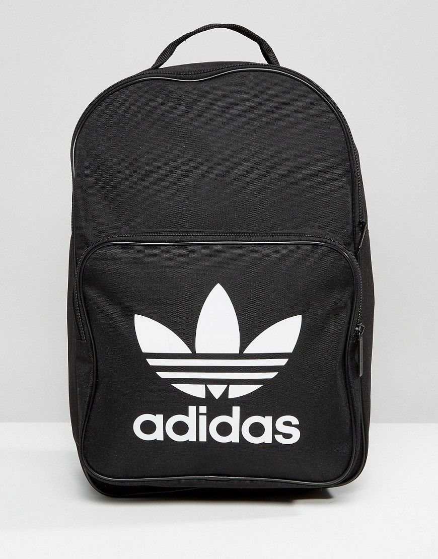 db69fd66ba ADIDAS ORIGINALS ADIDAS ORIGINALS TREFOIL LOGO BLACK BACKPACK - BLACK.   adidasoriginals  bags