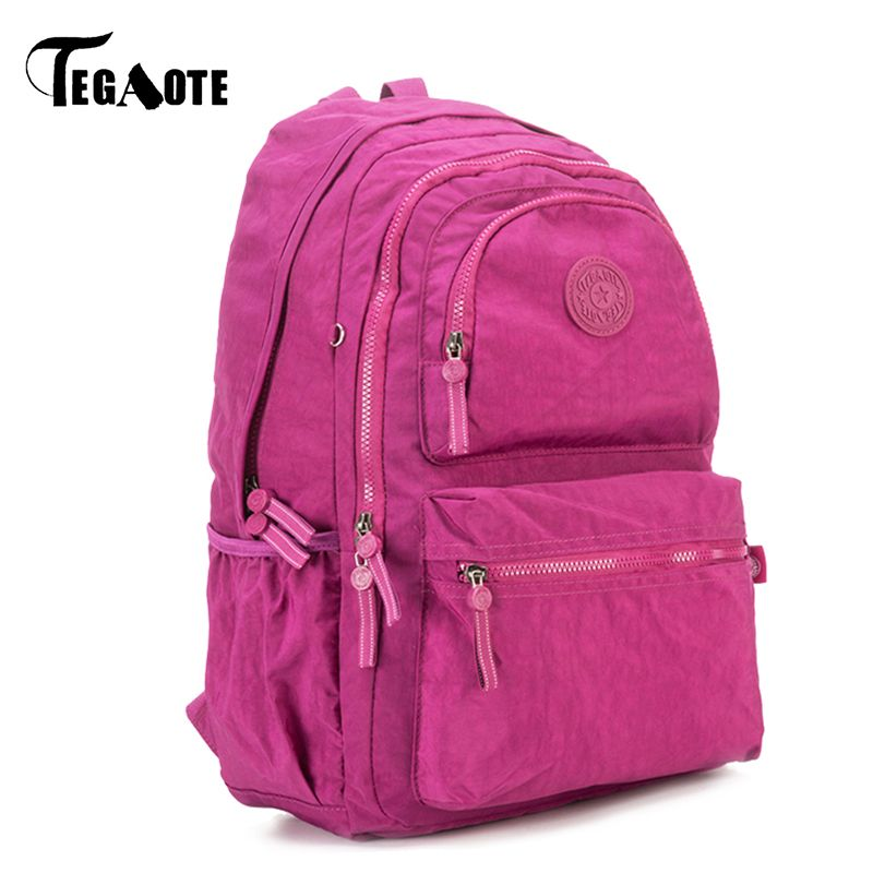 TEGAOTE Classic Backpack for Teenage Girls Mochila Escolar Feminina Women  School Backpack Nylon Waterproof Laptop Bagpack 91395733aeb5d