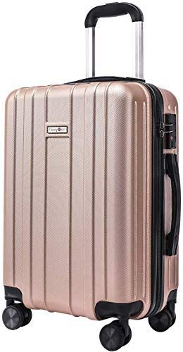 Enjoy exclusive for CarryOne Super Lightweight ABS Hard Shell Travel Carry On Cabin Hand Luggage Suitcase  4 double Spinner Wheels 2 Year Warranty TD3-Gold online - Favoritetopbrands #handluggage New CarryOne Super Lightweight ABS Hard Shell Travel Carry On Cabin Hand Luggage Suitcase with 4 double Spinner Wheels 2 Year Warranty TD3-Gold Fashion luggage. [$59.99] favoritetopbrands offers on top store #handluggage
