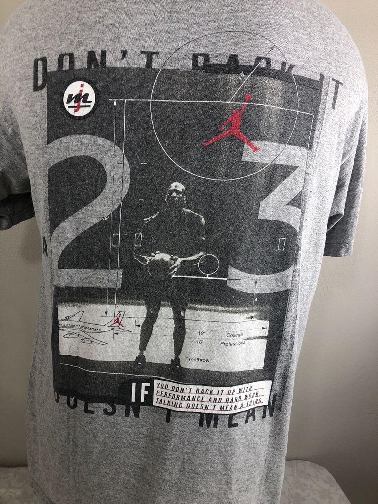 41c3a524cb7 VTG Nike Air Michael Jordan T Shirt Made USA 90s OG Medium Flight Swoosh  Bulls #MichaelJordan