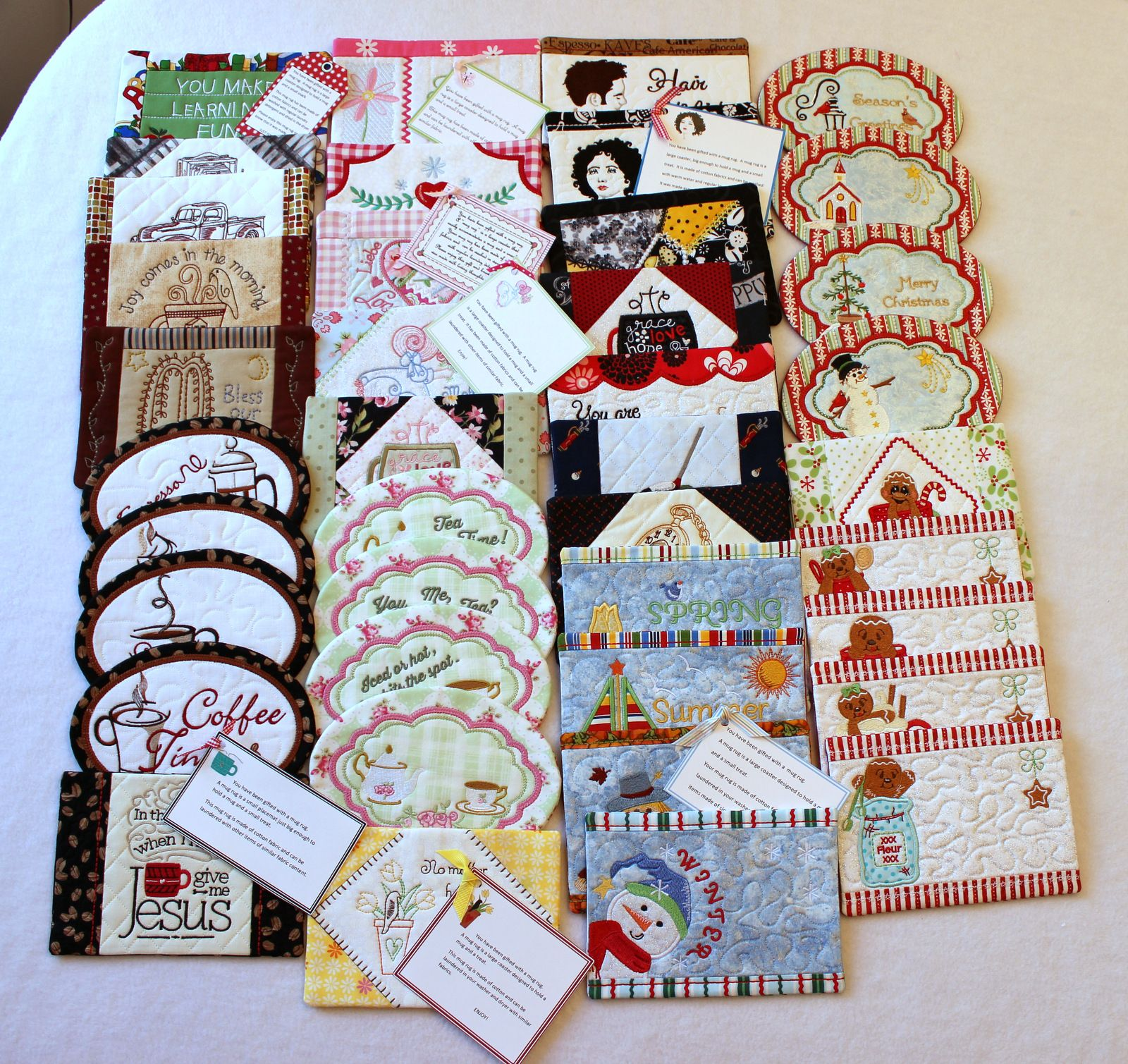 40 In The Hoop Mug Rugs One Incredible Collection This Ultimate Set Is For Embroidery Patterns Freeembroidery