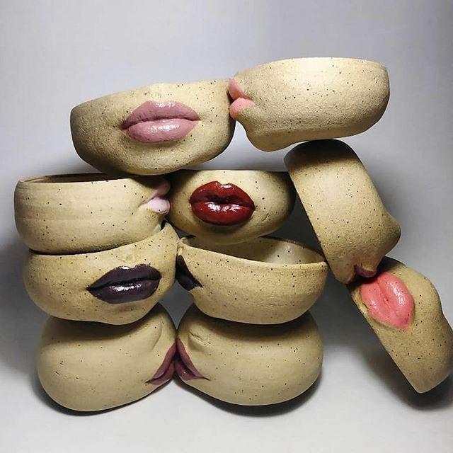 Ich liebe diese Töpfe aus @dirtspindle von Laguna Clay Company. Read original Artikel ... #ceramicart