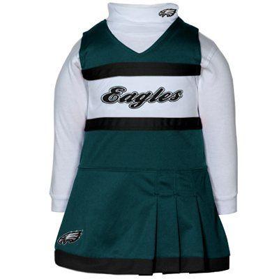 Reebok Philadelphia Eagles Infant Girls Midnight Green-White 2-Piece  Turtleneck Creeper   Cheerleader Dress Set ed50099e3