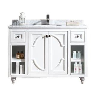 Laviva Odyssey Collection White Grey Maple Cabinet 48 Inch Vanity